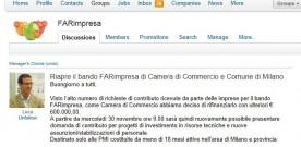 """IMPRESE: RIFINANZIATO IL BANDO """"FARIMPRESA"""" DI CCIAA."""