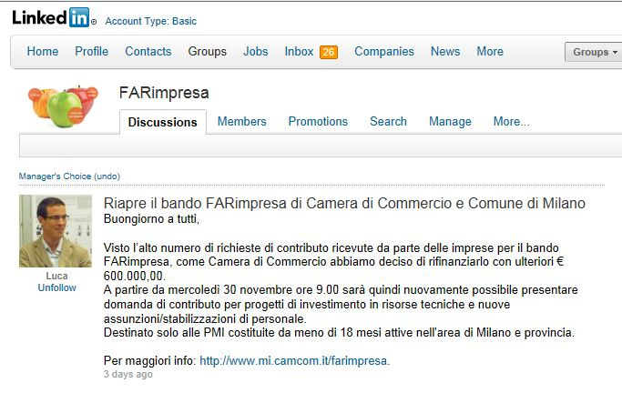 "CHAMBER OF COMMERCE OF MILAN REFINANCE ""FARIMPRESA"" FUND."