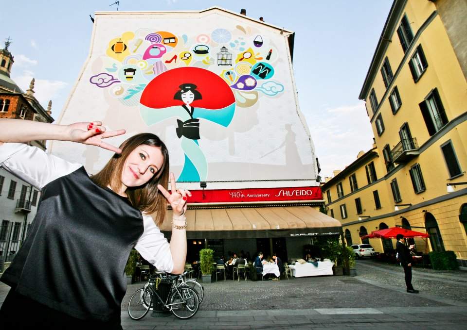 "CONCORSO SHISEIDO ""MAKE UP THE WALL"": VINCE CHIARA LAMENDOLA"