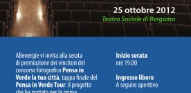 """SAVE THE DATE > ABENERGIE, """"PENSA IN VERDE"""" – SERATA DI PREMIAZIONE"""