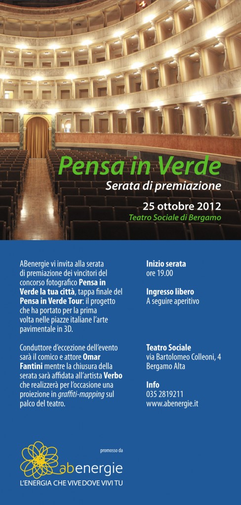 "SAVE THE DATE > ABENERGIE, ""PENSA IN VERDE"" - SERATA DI P..."