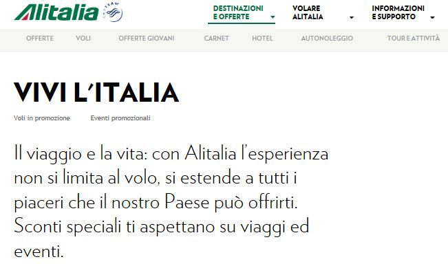 GROTTE DI CASTELLANA, CO-MARKETING PARTNERSHIP WITH ALITALIA