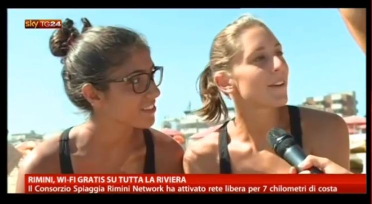 SKY TG24 (3 AGOSTO), DIRETTA: A RIMINI WI-FI GRATUITO E DECALOGO MY-REPUTATION.IT PER USO SOCIAL IN SPIAGGIA