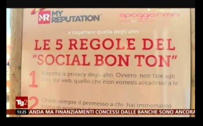 "RAI TG2 (4 AGOSTO): SUMMER TIME: FREE WI-FI AND ""SOCIAL BON TON"" ON THE BEACH IN RIMINI RIVIERA"