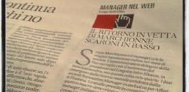 """Repubblica Affari & Finanza, """"MANAGER NEL WEB"""": TESTA A TESTA  ELKANN-DELLA VALLE"""