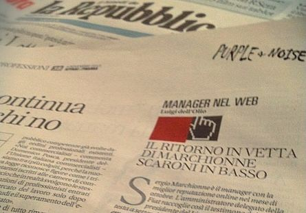"Repubblica Affari & Finanza, ""MANAGER ON THE NET"": MARCHIONNE IS B..."