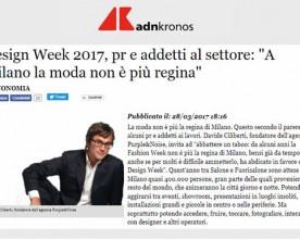 DESIGN WEEK, E A MILANO LA MODA NON E' PIU' REGINA di Davide Ciliberti