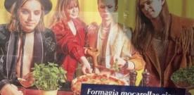 SOSIA MANESKIN PER PUBBLICITA'  FINTA MOZZARELLA. IN LETTONIA…